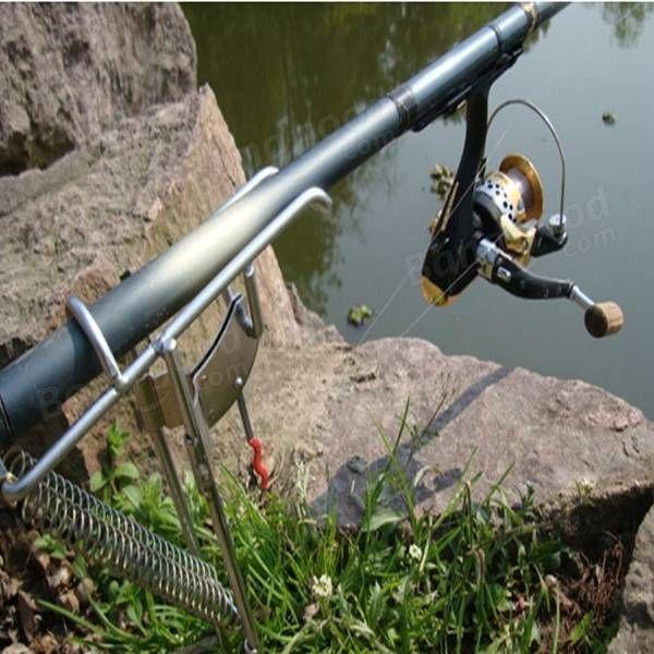 Canne à pêche support stand de pêche à ressort béquille double pôle support tige pôle de pêche des outils