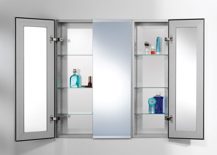 Lighted Mirrored Medicine Cabinet Cool Modern Cabinets Custom Mirrors Design With Swing Doors Storage
