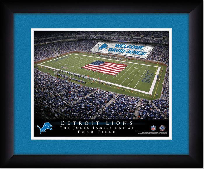 Your Name on a sign in Ford Field, Your Day at the Stadium.  Great gift for Detroit Lions Fans. Customize with your name on cards held by the fans and make it Your Day at the stadium. #LionsFan #NFLStadiums