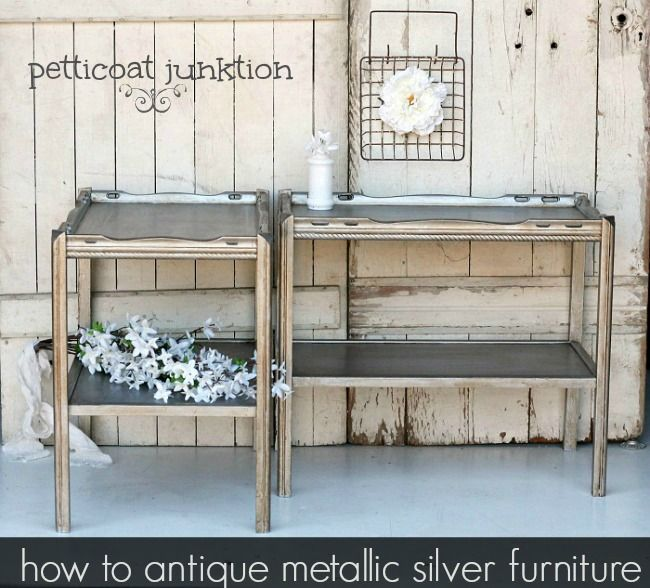 145 Best Images About Metallic Paint Furniture On Pinterest Furniture Painted Dressers And