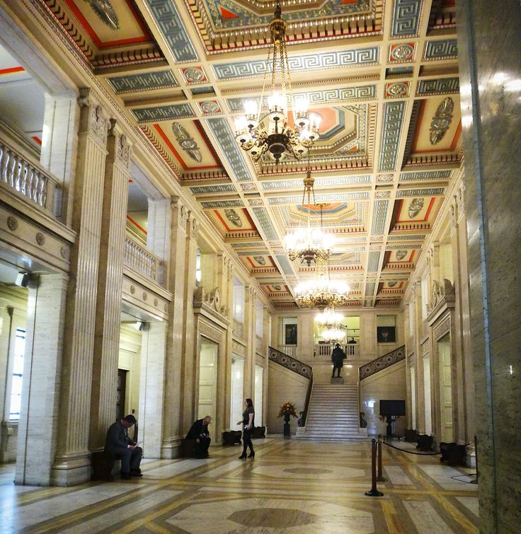 Inside The Parliament Buildings Stormont In Belfast Northern Ireland Artwork On