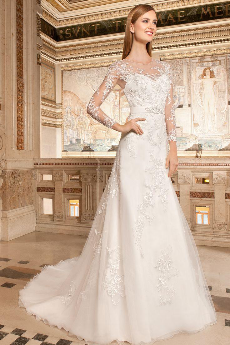 14 best Demetrios Collection images on Pinterest | Wedding frocks ...