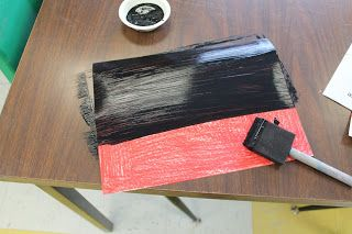 Art Room 104: Homemade Scratch Art boards for older kids using acrylic paints over crayons
