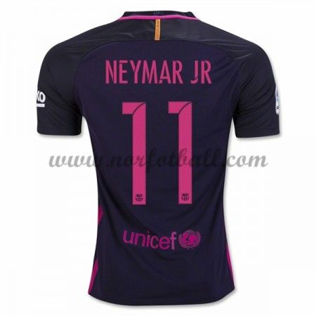 Billige Fotballdrakter Barcelona 2016-17 Neymar Jr 11 Borte Draktsett Kortermet