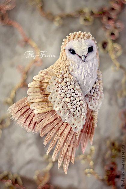 textile birds by Julia Gorina