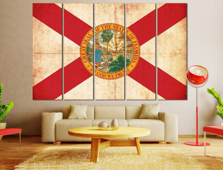 Flag of Florida canvas print. #Florida #Flag #Canvas