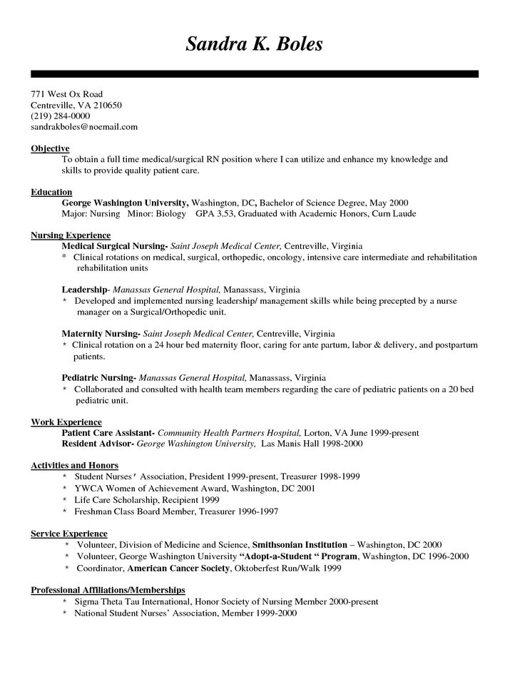 new grad resume template cipanewsletter builder about pinterest registered nurse student