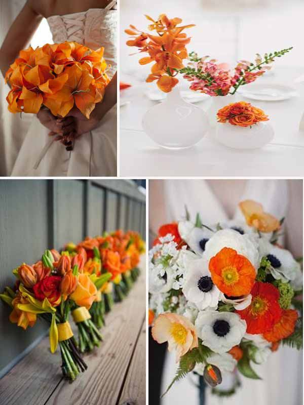 ... blanc et orange  Mariage orange  Pinterest  Mariage, Blog et Orange