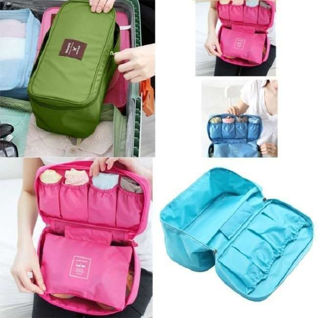 Waterproof Hygienic Travel Bag Underwear Pouch Bra Holder Storage Bag : 100% Brand New and high quality. Material: Polyester oxford Color: Sky Blue, .