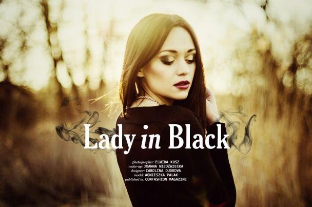"""Elwira Kusz: """"Lady in black"""" http://www.confashionmag.pl/webitorial/artystyczny-czwartek-lady-in-black.html"""