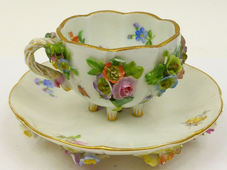 Antique meissen porcelain  cup & saucer