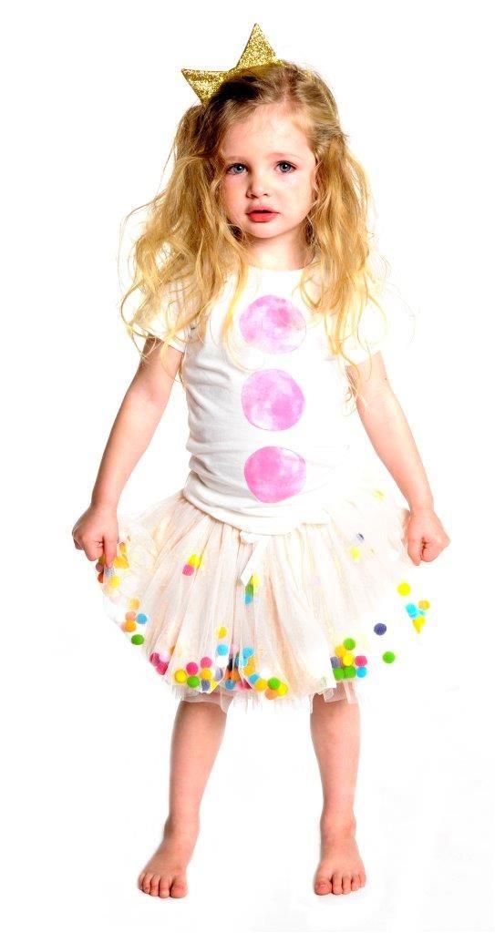 Rock Your Baby Celebration Tutu Skirt $39.95 sizes 1 to 6.  Pom Pom Tee coming soon.