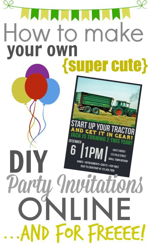 It's so easy and cheap to make your own stylish printable party invitations online, no matter what your skill level! Why would you do it any other way?