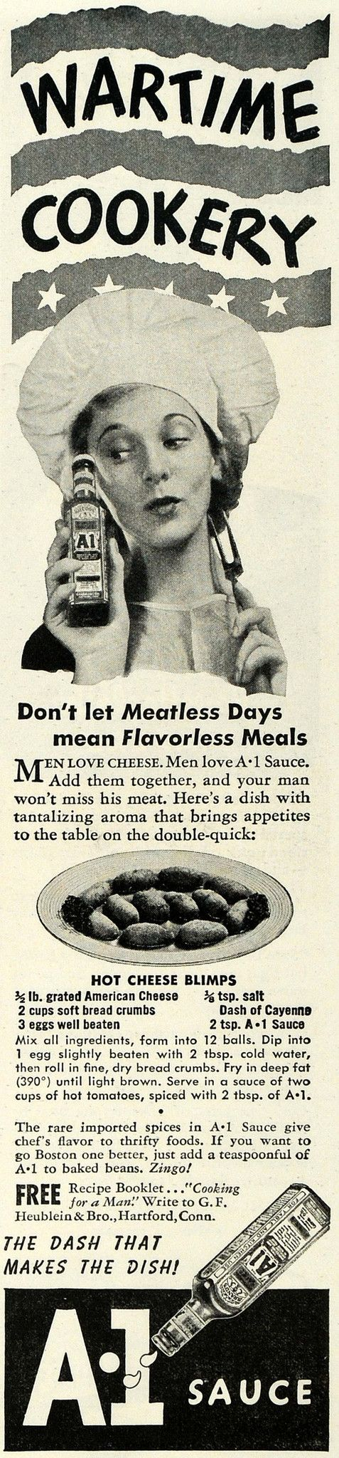 1943 Ad A1 Steak Sauce Meat Flavor Meals Wartime Food - ORIGINAL ADVERTISING GH4 - Period Paper