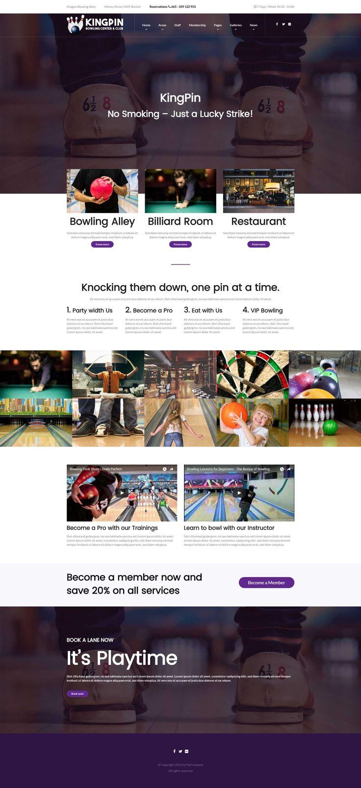 Kingpin - a Bowling Alley WordPress Theme
