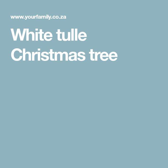 White tulle Christmas tree