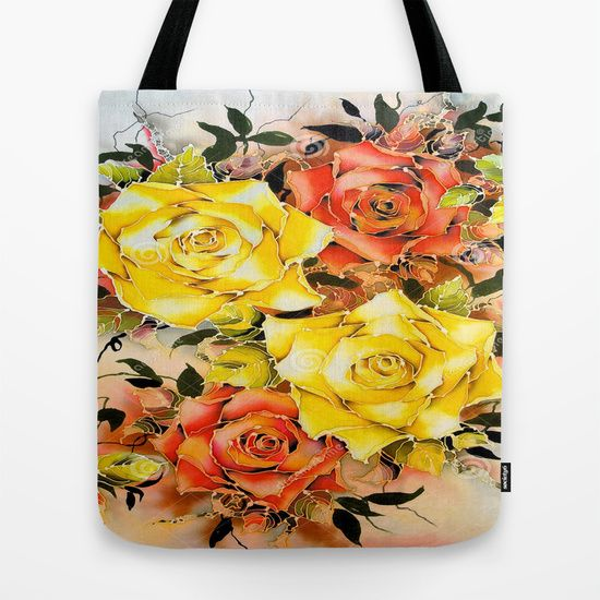 Buy BATIK FLOWERS  Tote Bag by Acus. Worldwide shipping available at Society6.com. Just one of millions of high quality products available.