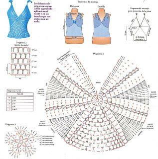 COMO HACER BLUSA AZUL TURQUESA PASO A PASO | Patrones Crochet, Manualidades y Reciclado