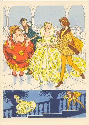 """Ника Гольц. Ил. к сказке Ш. Перро """"Золушка"""" Изогиз. 1956"""