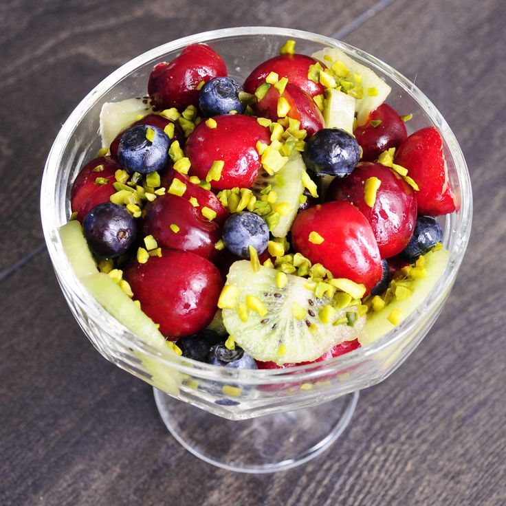 Antioxidant Cherry Fruit Salad Recipe with Kiwi - Vegan Family Recipes