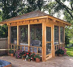 Home Ideas For > Screened Gazebo Plans