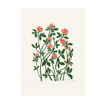 Martas kløverposter fra Fine Little Day er designet av den tyske kunstneren og grafiske formgiveren Marta Fromme og er opprinnelig et tresnittstrykk. Plakaten har et vakkert blomstermotiv som leder tankene til sommeren og viltvoksende blomsterenger på landet. En fantastisk detalj på veggen!