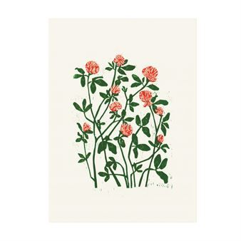Marta´s clover poster from Fine Little Day is designed by the German artist and graphic designer Marta Fromme and is original a woodcut print. The poster has a beautiful floral motif that brings thoughts to the summer and lovely flower meadows at the country. A wonderful detail for your wall!