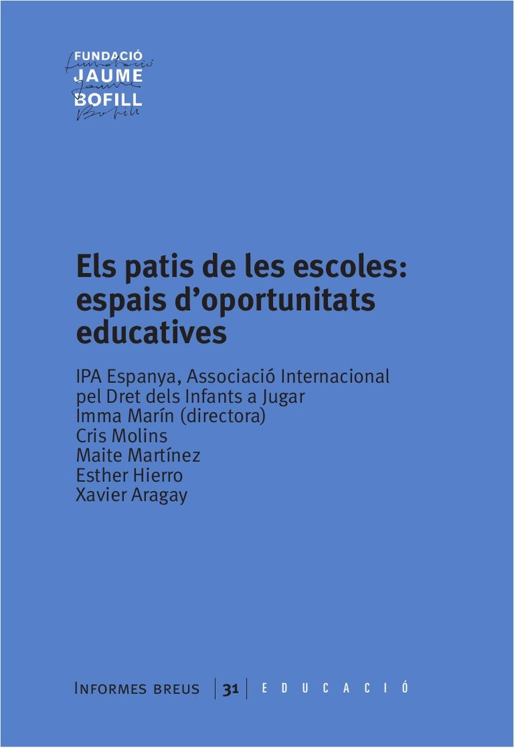 Els patis de les escoles: espais d'oportunitats educatives