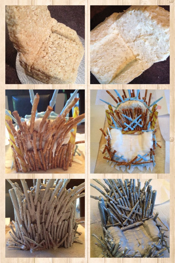 Game of thrones chair cake - How To Make Game Of Throne Cake Topper The Throne