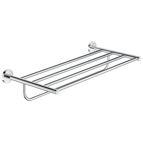 The sleek form of the multi towel rack makes a statement in any bathroom concept without sacrificing design or functionality. The refined aesthetic and highly durable construction offer complete design bathroom freedom. Equipped with the innovative StarLight® technology the finish will retain the lustrous shine while remaining scratch and tarnish free for a lifetime.