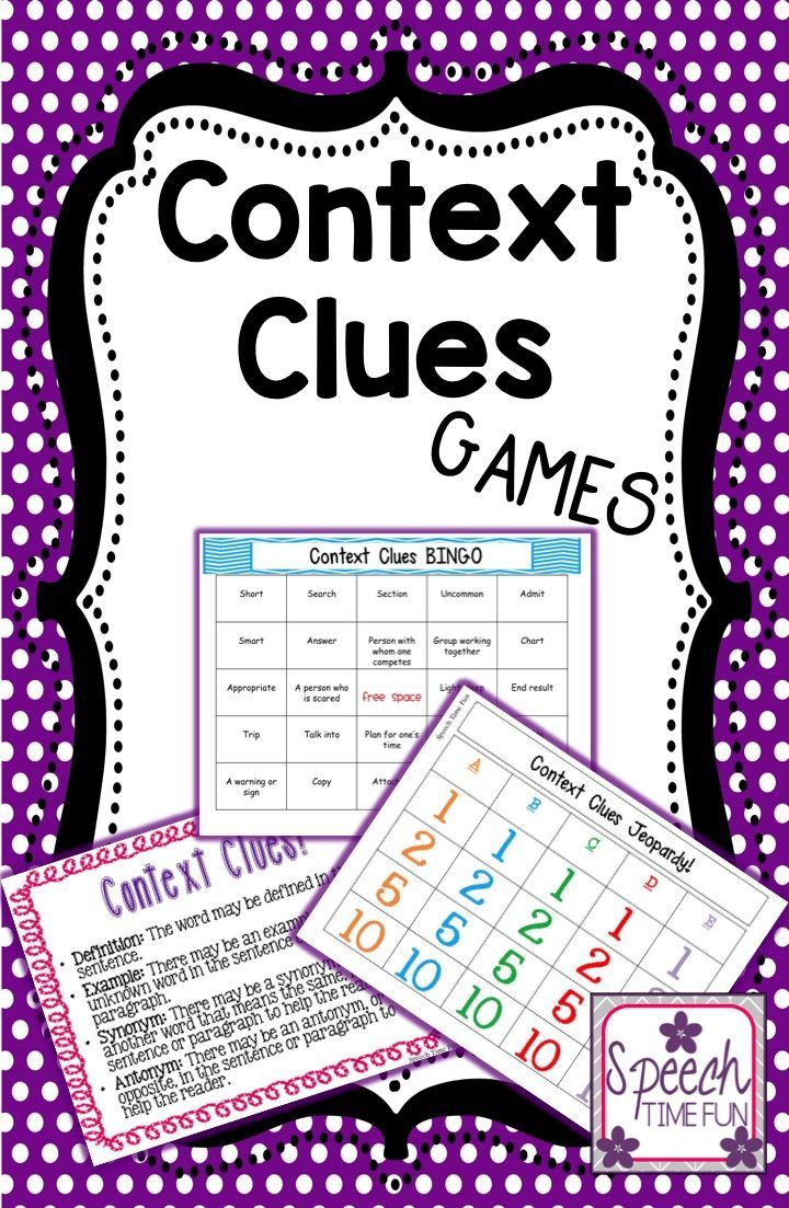 Speech Time Fun: Context Clues Games