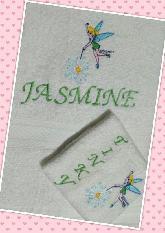 Tinker Fairy Towel Set Personalized Towel Set by PPbabyboutique