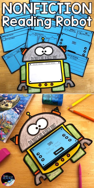 Nonfiction Reading Robot Nonfiction Reading Activities Reading Crafts Nonfiction Reading Activities Nonfiction Reading Nonfiction Activities