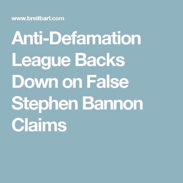 Anti-Defamation League Backs Down on False Stephen Bannon Claims