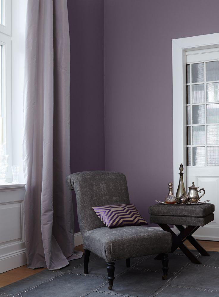 Die besten 25+ Lila wandfarbe Ideen auf Pinterest Runde ottomane - wohnzimmer einrichten grau lila
