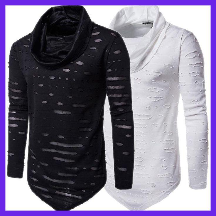 Brand NEW High Quality 2017 Autumn Winter Men Muscle Long Sleeve Soild Cotton T Shirt Casual Tops Shirts Social Plus Size Blusas