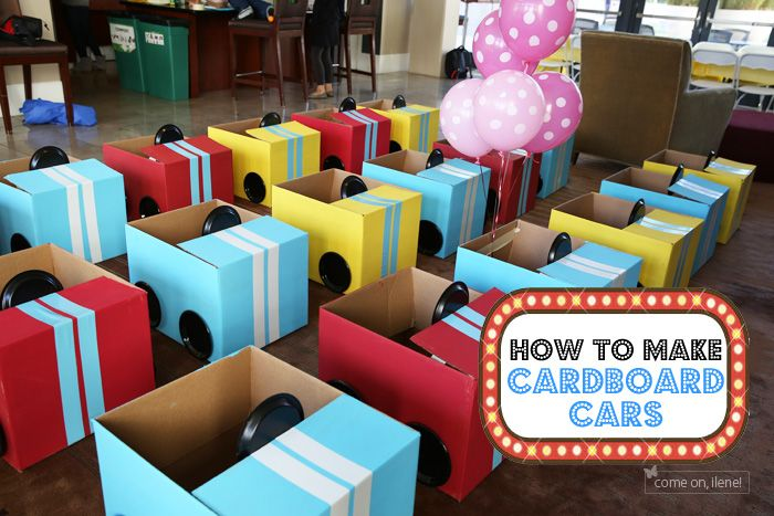 Drive In Movie Theater Party, Part 2: How to Make Cardboard Cars