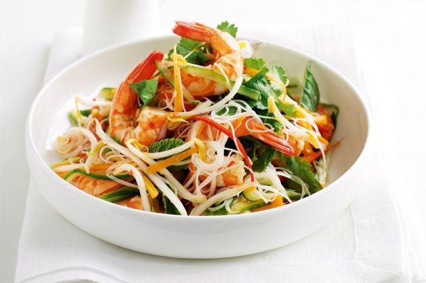 vietnamese recipies | Vietnamese Prawn & Rice Noodle Salad Recipe - Taste.com.au