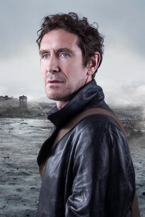Paul McGann, with much better short hair.The eighth Doctor from Doctor Who stares into the distance.