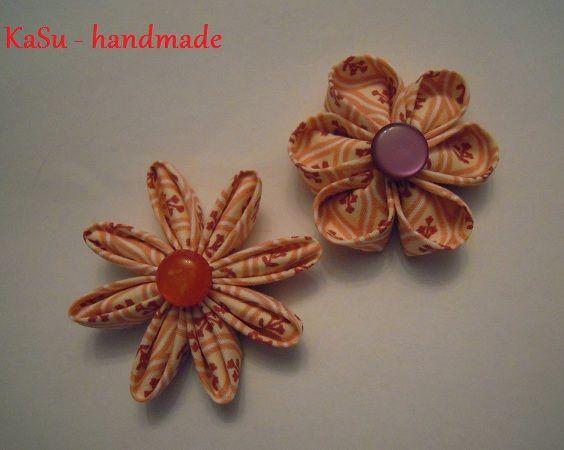 KaSu - handmade & LANiiDAE: Kanzashi - Blume ... Anleitung No. 1