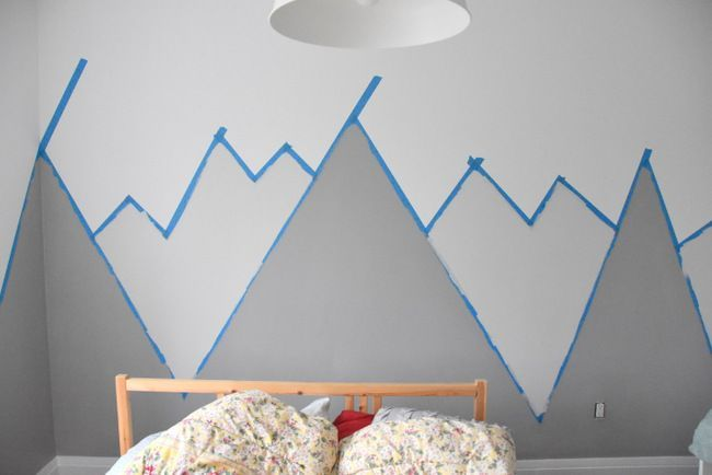 How to paint a DIY Nursery Mountain Mural (no art skills required