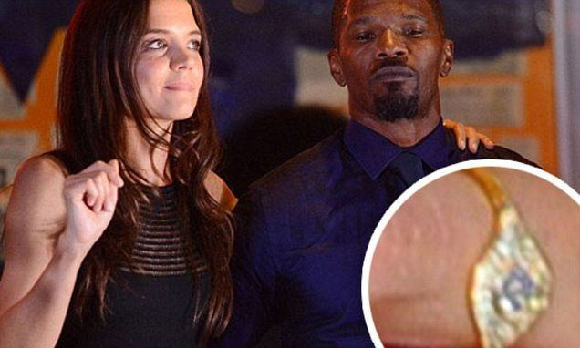 Katie Holmes flashes ring amid claims 'she wants to wed Jamie Foxx'