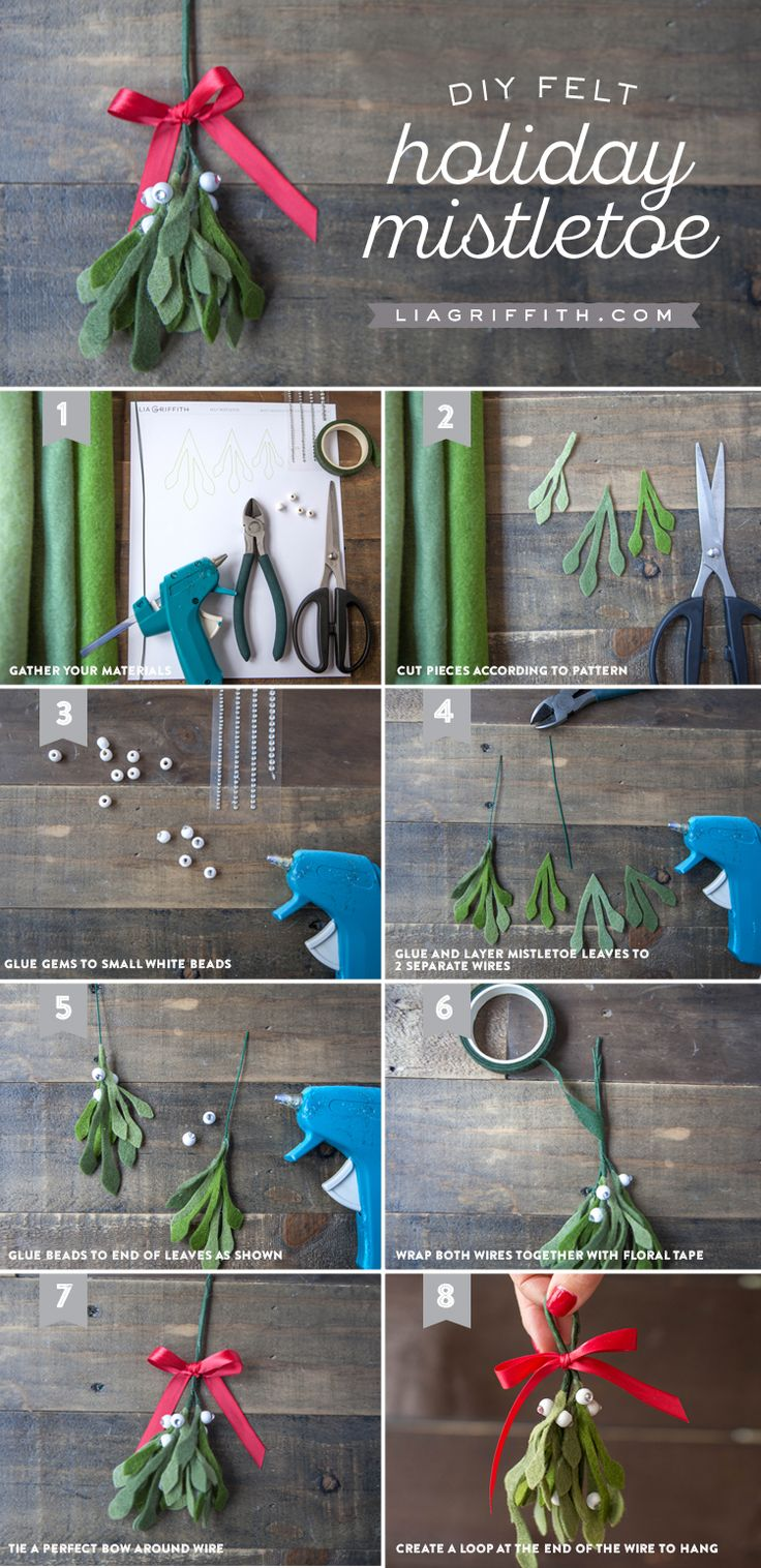 Where in the world was mistletoe first hung as a christmas decoration - Diy Felt Mistletoe
