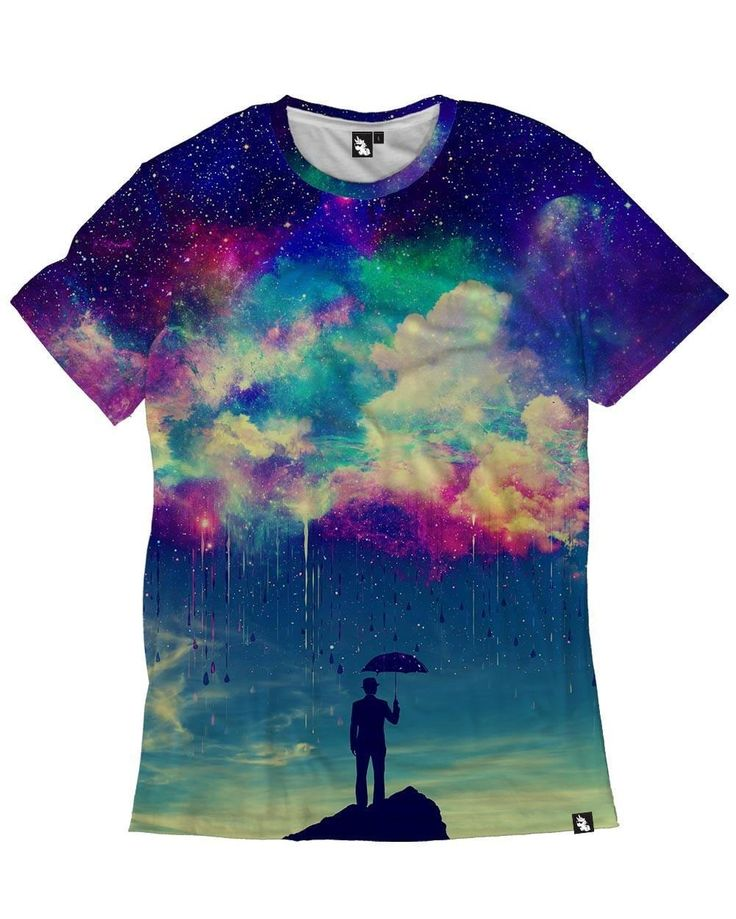 Till The Sky Falls Down Men's All Over Print Rave Tee for Festivals  Front