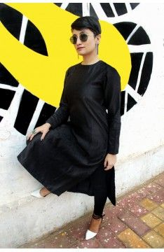Long kurta -Tunic: The Luxury Label's Elvan Collection for #indianofficewear #indianworkwear #Indianofficefashion #indianformals