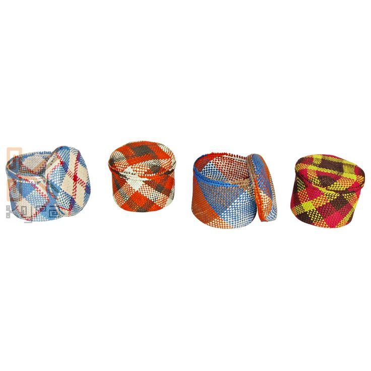 Joyeros tejidos en palma de Iraca