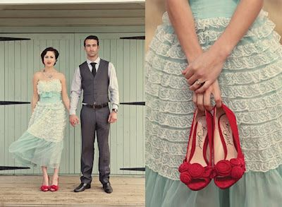 Madly Over These Red Wedding Shoes