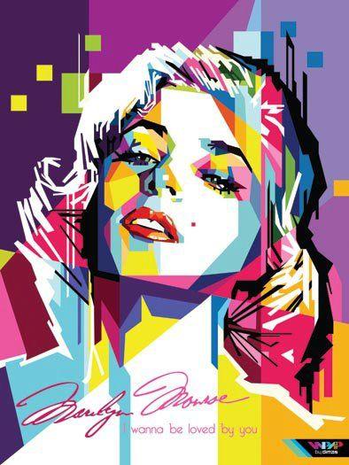 monroe in pop art portrait by Rizki Dion, via Flickr