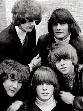 The Byrds (The Classic Lineup: clock-wise from 11 -  Roger McGuinn, Gene Clark, Chris Hillman, Michael Clarke, and David Crosby)