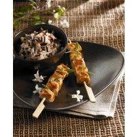 Brochettes de tendres de poulet au Miel de Tilleul Lune de Miel®